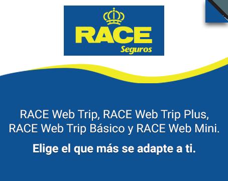 Race web trip, Race web trip plus, Race web trip básico y Race web mini. Elige el que más se adapte a ti