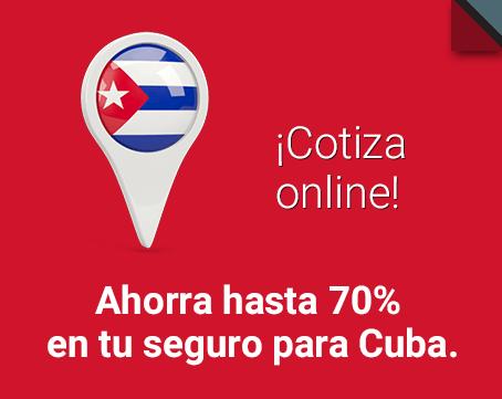 Ahorra hasta un 70% en tu seguro para Cuba. ¡Cotiza gratis y online!